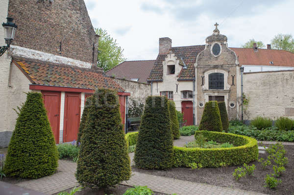 Complejo medieval hospital panorámica vista cielo Foto stock © artjazz