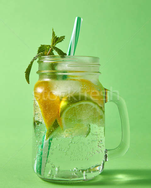 Refreshing carbonated homemade drink with natural ingredients -  Stock photo © artjazz