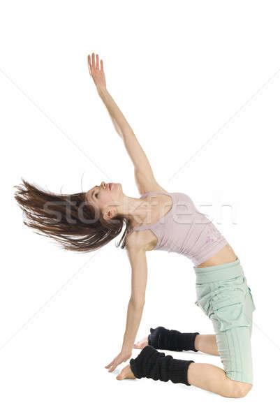 позируют молодые танцовщицы изолированный белый женщину Сток-фото © artjazz