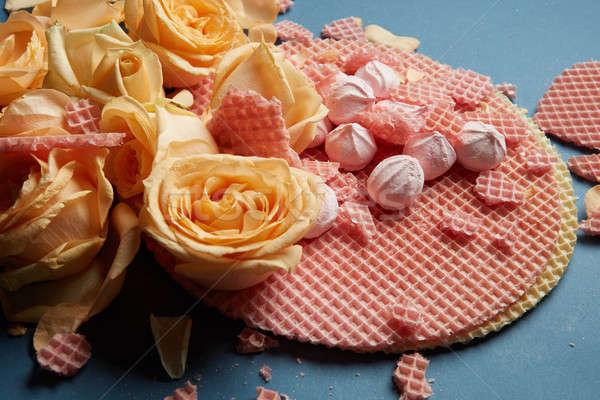 Decoratie geel rozen blauw mooie post stockfoto iaroslav danylchenko artjazz - Decoratie geel ...