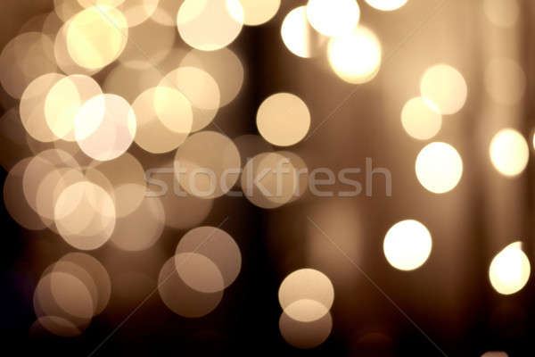 festive golden bokeh background Stock photo © artjazz