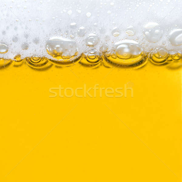 beer with foam Stock photo © artjazz