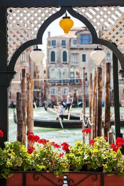 Venice canal scene in Italy Stock photo © artjazz