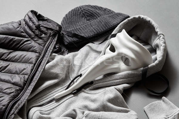 winter warm jacket and sweater Stock photo © artjazz
