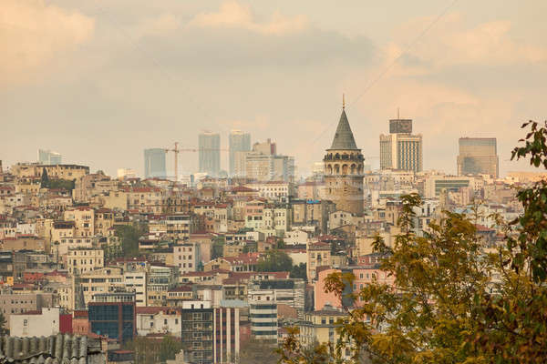Vue ville Istanbul hauteur panoramique tour Photo stock © artjazz