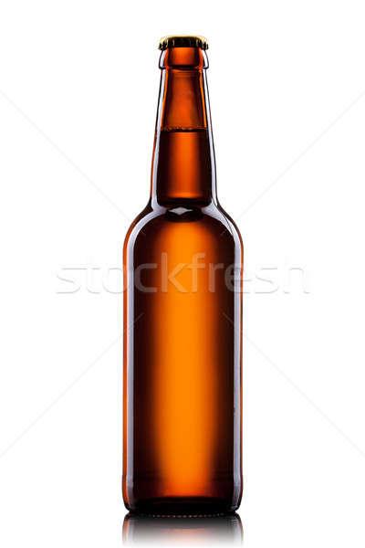 Bierfles geïsoleerd witte partij abstract licht Stockfoto © artjazz