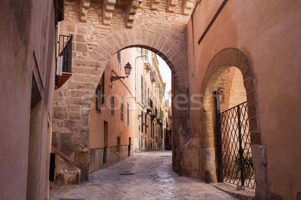 Old street of Palma de Mallorca Stock photo © artjazz