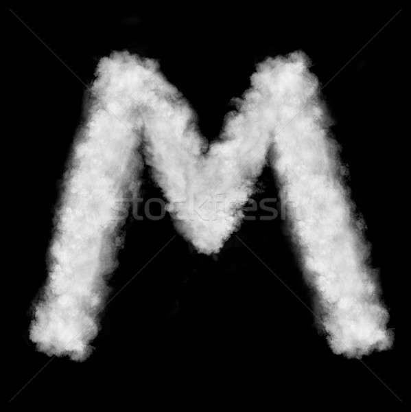 Mektup m bulutlar mektup doğal yalıtılmış siyah Stok fotoğraf © artjazz