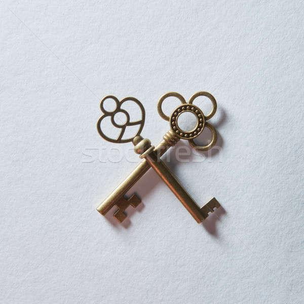Keys represented on background Stock photo © artjazz