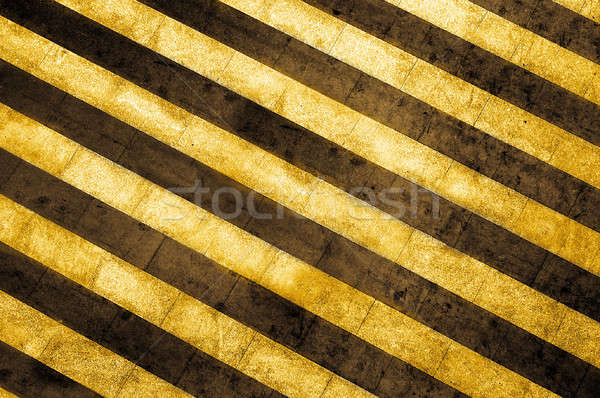 grunge striped cunstruction background Stock photo © artjazz