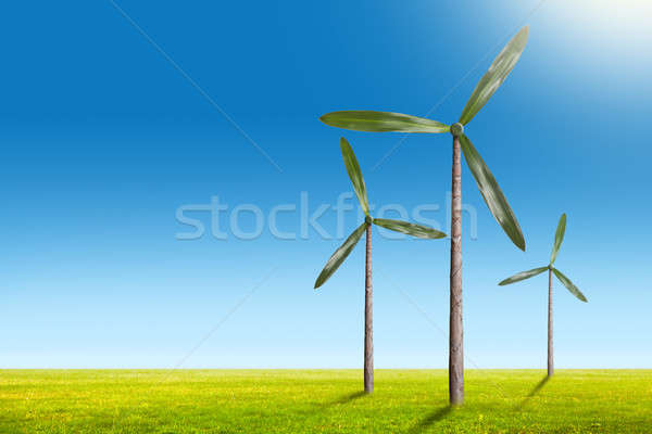 グリーンエネルギー 自然 風 ジェネレータ 夏 風景 ストックフォト © artjazz