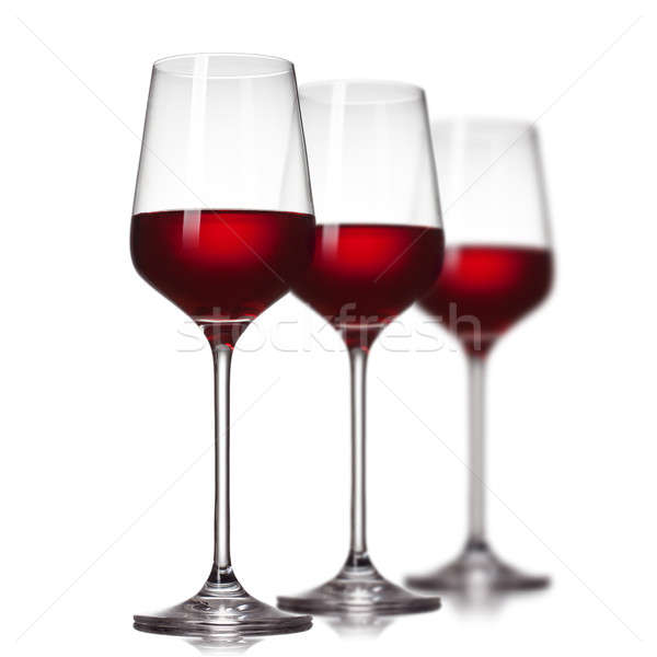 Stockfoto: Rode · wijn · bril · geïsoleerd · witte · wijn · natuur