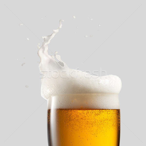 Photo stock: Froid · bière · mousse · Splash · gris