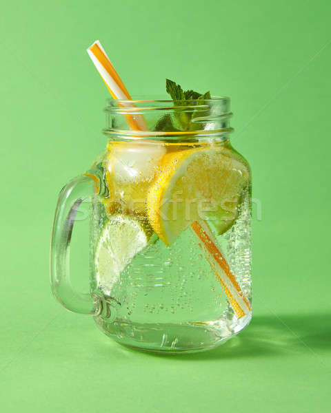 Koud natuurlijke limonade handgemaakt ijs Stockfoto © artjazz