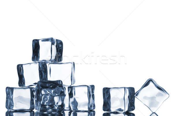 Kroplami wody odizolowany biały wody świetle Zdjęcia stock © artjazz