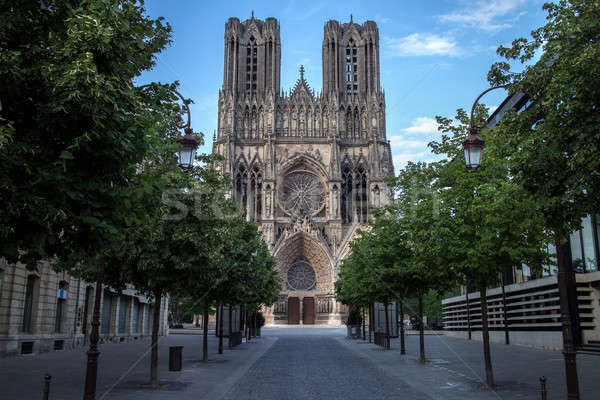 Cathedral Notre Dame in Reims, France Stock photo © artjazz