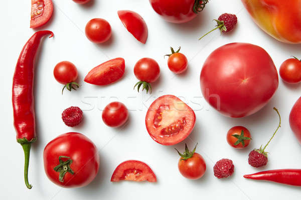 Red chili pepper and tomato . Stock photo © artjazz