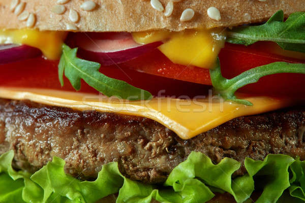 Smakelijk achtergrond tabel brood Stockfoto © artjazz