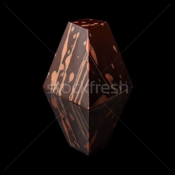 chocolate candy on black background Stock photo © artjazz