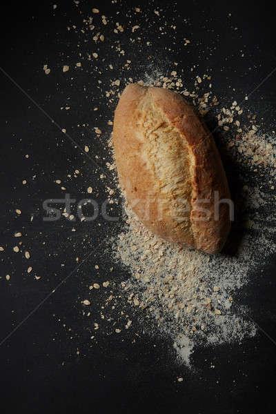 Fresh homemade bread Stock photo © artjazz