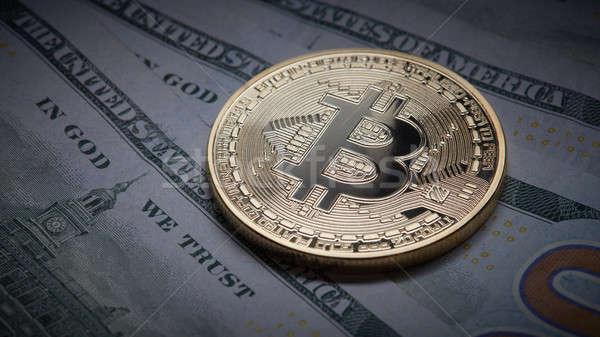 монеты bitcoin подземных экономики Сток-фото © artjazz