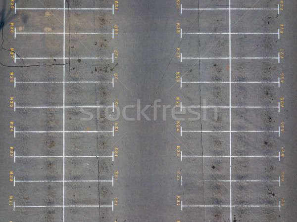Asfalto piso estacionamiento ciudad centro vacante Foto stock © artjazz