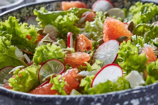 Stok fotoğraf: Ev · yapımı · taze · vejetaryen · salata · doğal · organik