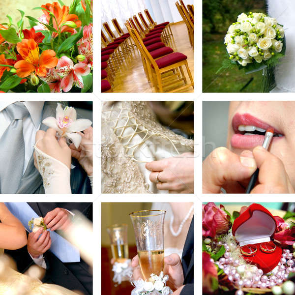 color wedding photos Stock photo © artjazz