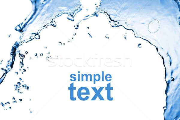 Stock fotó: Absztrakt · csobbanás · izolált · fehér · víz · természet