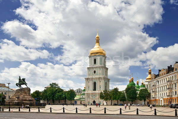 St. Sophia square in Kyiv, Ukraine Stock photo © artjazz