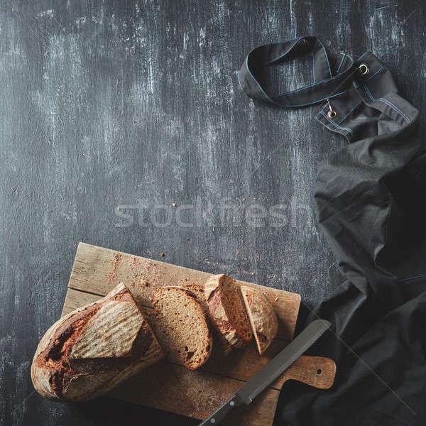 Foto stock: Pan · cocina · oscuro