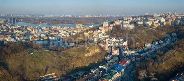 Madarak szem kilátás légi panorámakép kerület Stock fotó © artjazz