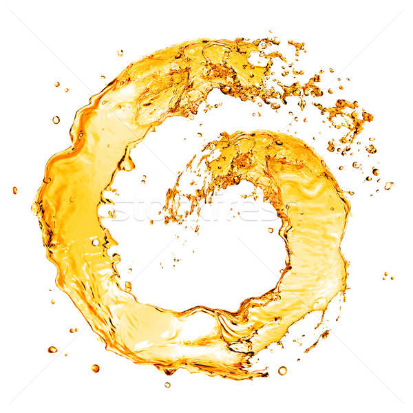 round orange water splash isolated on white Stock photo © artjazz