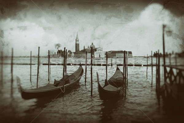 Gondolas on Grand Canal in Venice Stock photo © artjazz