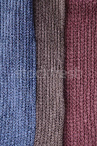 brown red and blue Knit Texture Stock photo © artjazz