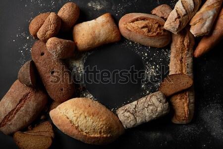 Inny chleba górę widoku kopia przestrzeń smak Zdjęcia stock © artjazz