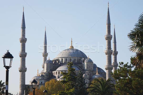 Stock fotó: Kék · mecset · Isztambul · Törökország · kilátás · híres