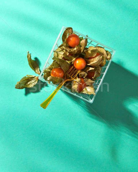 Arancione basket forcella verde frutti di bosco maturo Foto d'archivio © artjazz