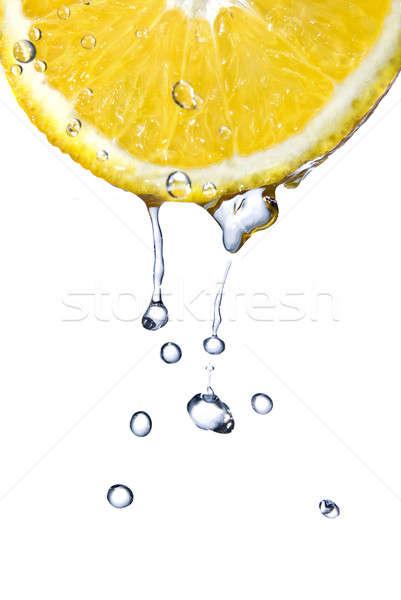 Krople pomarańczowy odizolowany biały żywności Zdjęcia stock © artjazz