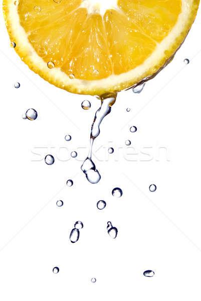 Foto d'archivio: Gocce · arancione · isolato · bianco · alimentare