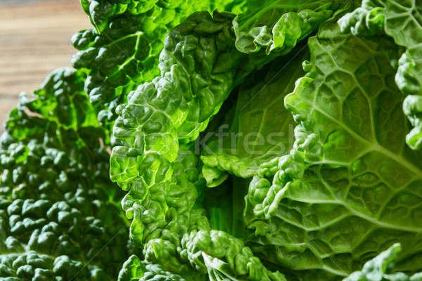 Savoy cabbage texture Stock photo © artjazz