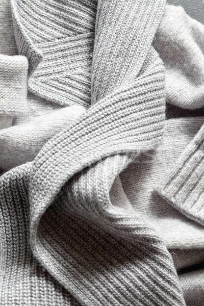 Hecho a mano gris lana textura primer plano Foto stock © artjazz
