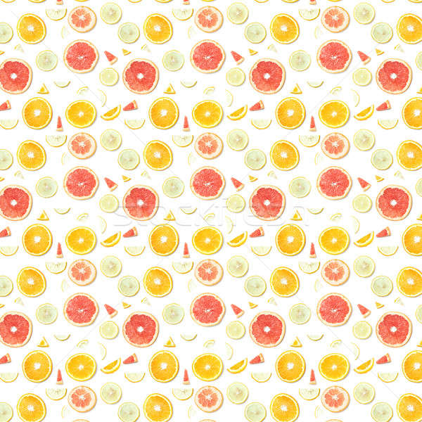 pattern made of citrus fruits Stock photo © artjazz