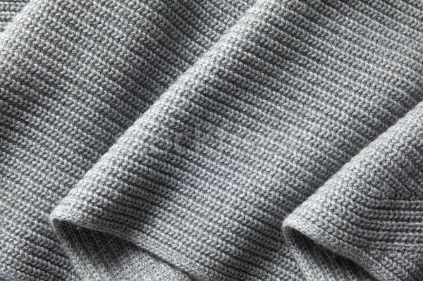 Natural draped knitted texture Stock photo © artjazz