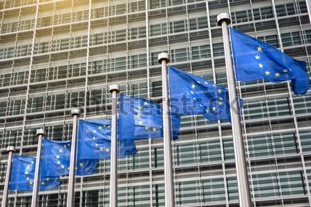 ヨーロッパの フラグ 建物 ビジネス オフィス 建設 ストックフォト © artjazz
