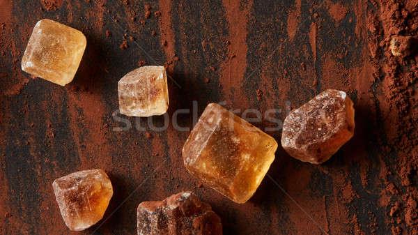 Karmel sztuk proszek ciemne żywności tle Zdjęcia stock © artjazz