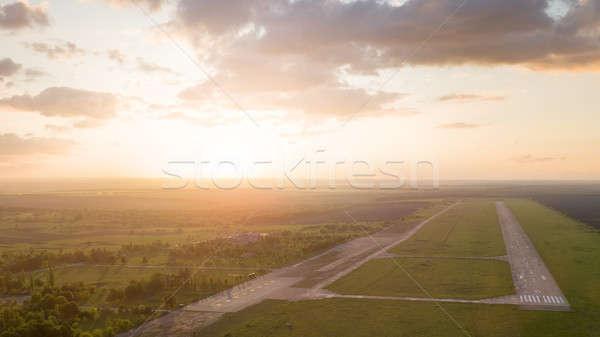 Luchtfoto vogels oog abstract meetkundig Stockfoto © artjazz