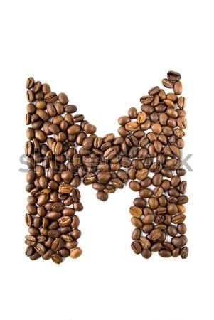 ストックフォト: コーヒー · 手紙 · 孤立した · 白 · フレーム · 背景