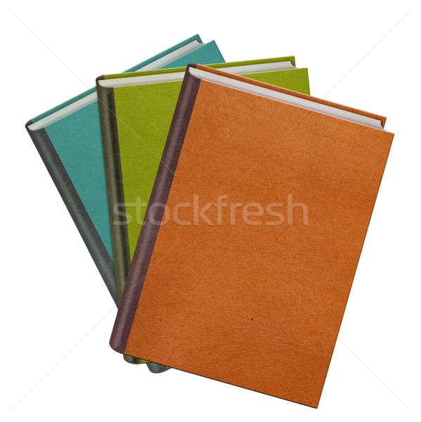 Kolor książek odizolowany biały tle edukacji Zdjęcia stock © artjazz