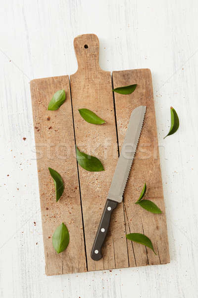 knife on a cutting board Stock photo © artjazz
